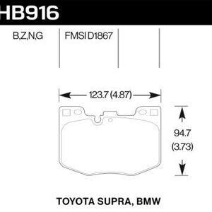 HB916B.740 Hawk Brake Pad - HPS 5.0