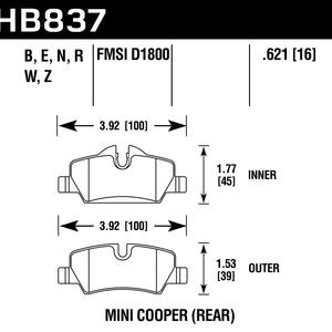 Hawk Brake Pad - Blue 9012