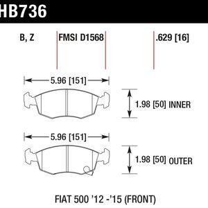Hawk Brake Pad - Blue 9012